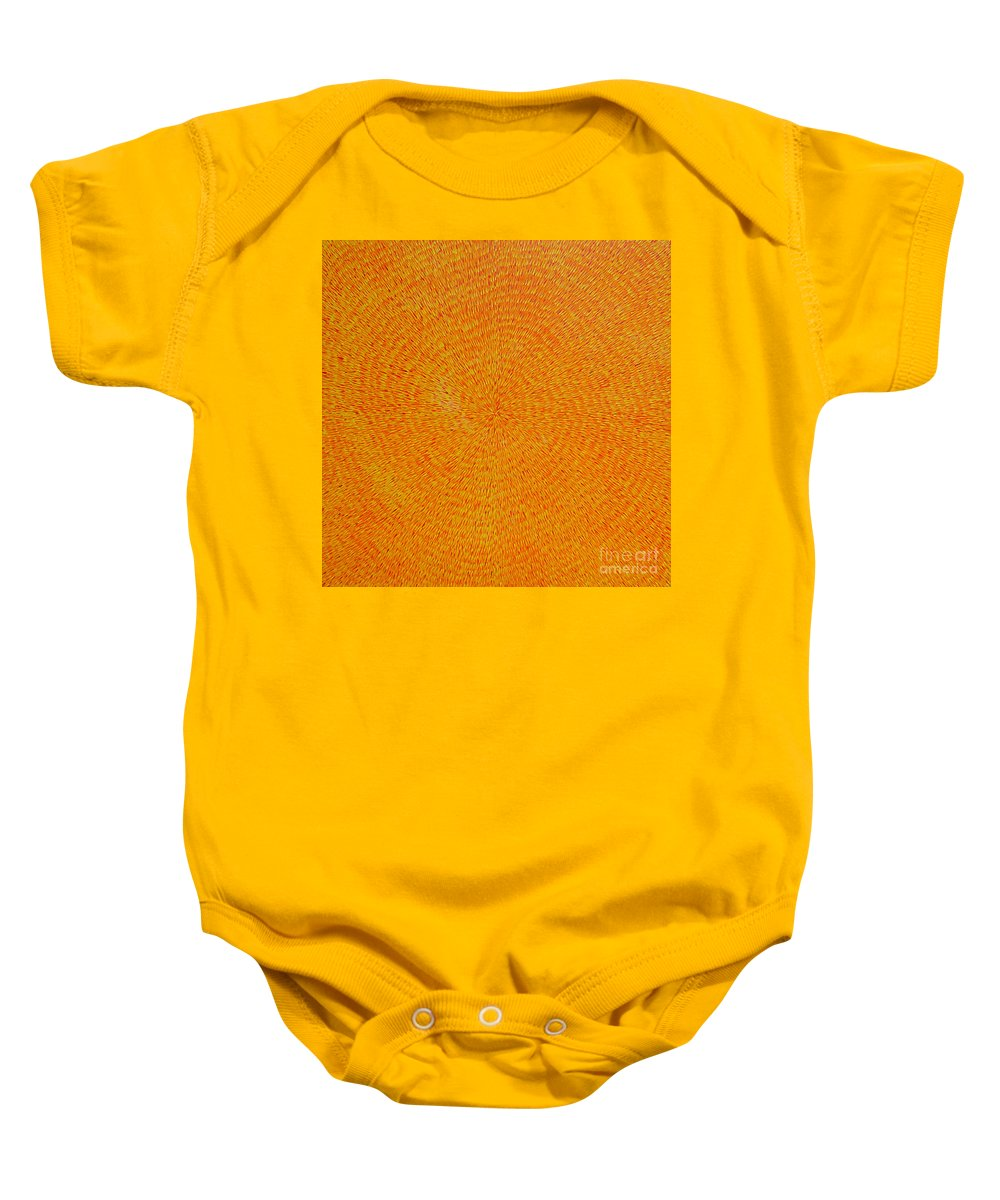 Abstract Baby Onesie featuring the painting Su Gaia by Dean Triolo
