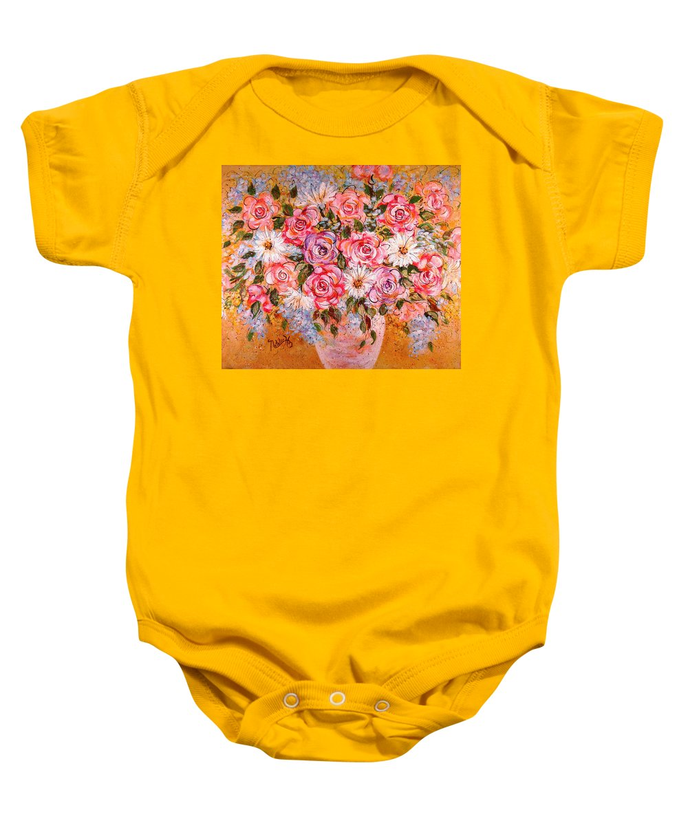 Flowers Baby Onesie featuring the painting Summer Bouquet by Natalie Holland