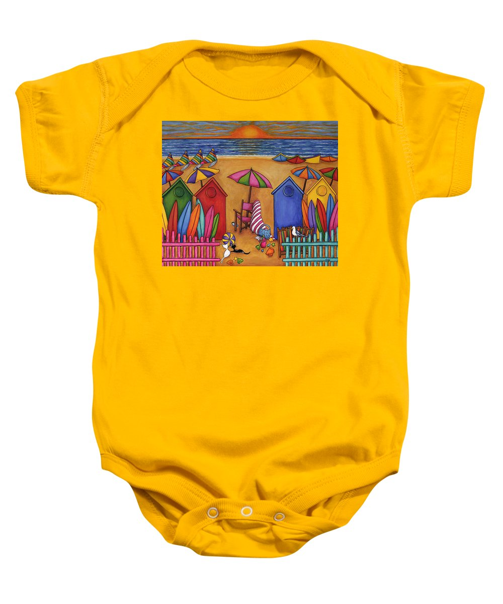 Summer Baby Onesie featuring the painting Summer Delight by Lisa Lorenz