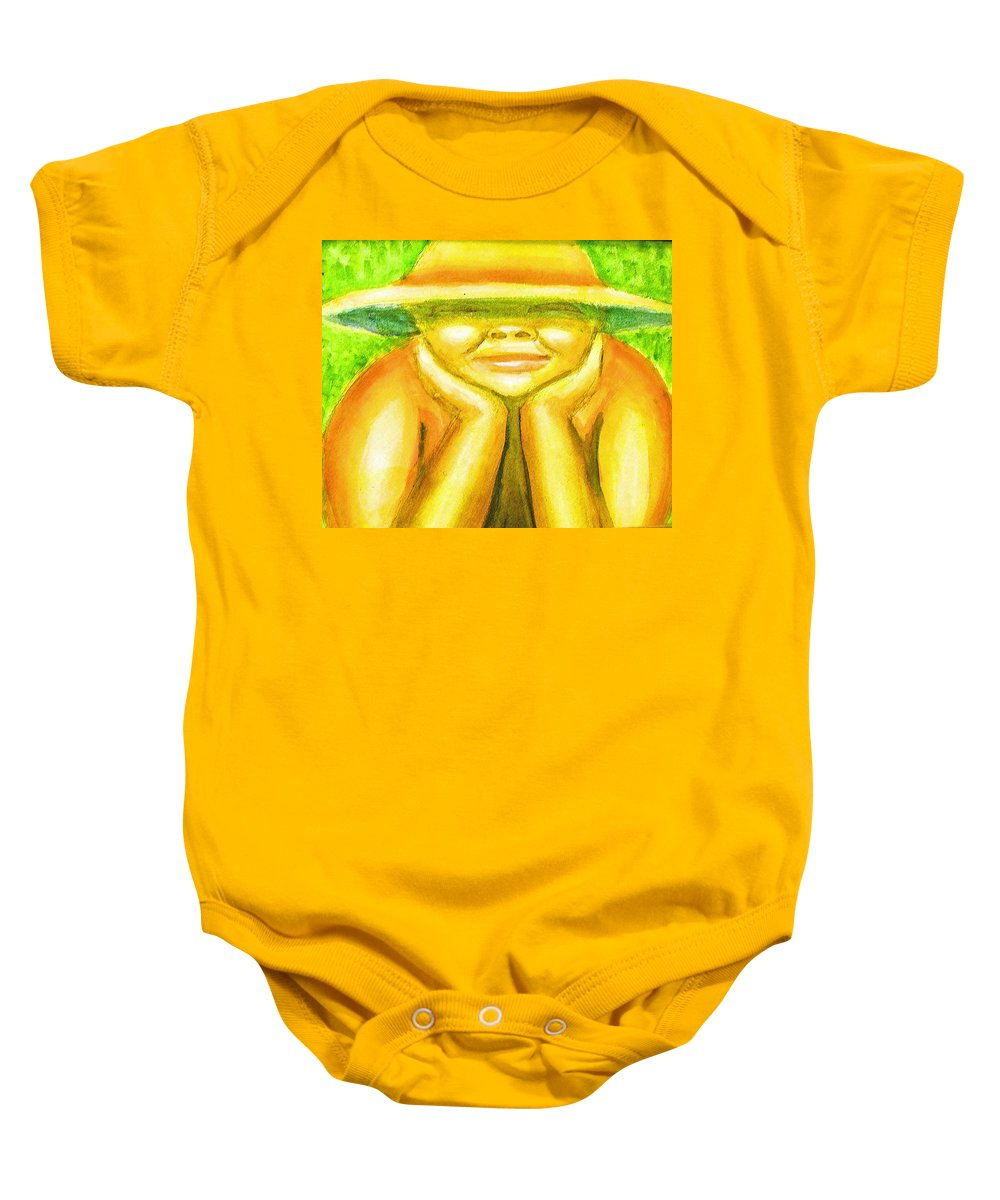 Baby Onesie featuring the painting Summer Sun by Jan Gilmore