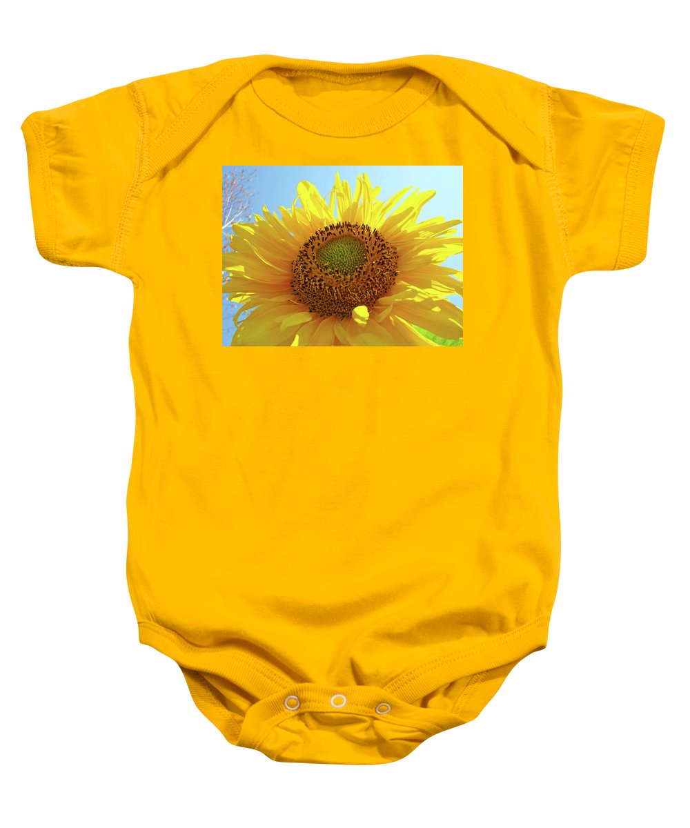 Sunflower Baby Onesie featuring the photograph Sun Flowers Art Sunflower Giclee Prints Baslee Troutman by Baslee Troutman