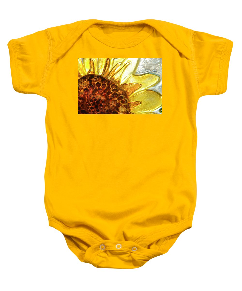Sun Baby Onesie featuring the photograph Sunburst Sunflower by Jerry McElroy