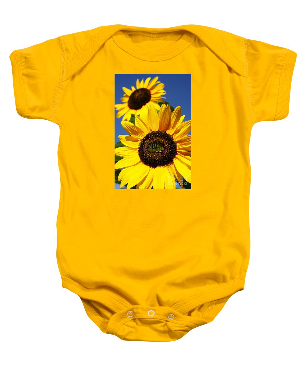 Sunflowers Baby Onesie featuring the photograph Sunflowers by Gaspar Avila