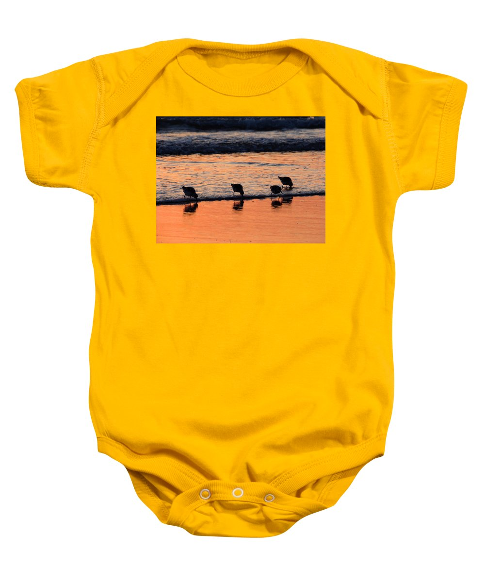 Sunrise Baby Onesie featuring the photograph Sunrise Harmony by Dianne Cowen