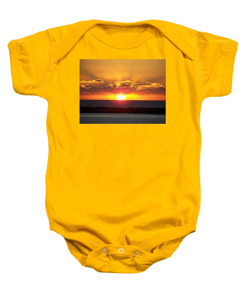 Sunset Baby Onesie featuring the photograph Sunset 0010 by Laurie Paci