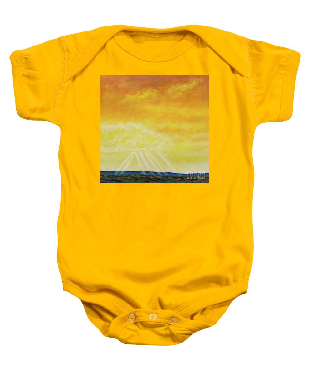 Landscape Baby Onesie featuring the painting Super Seven by Brian Commerford