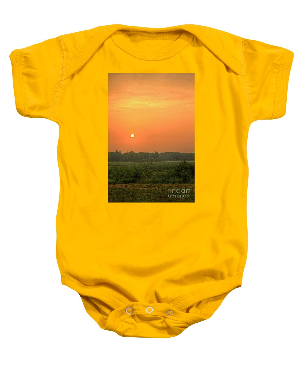 Sunrize Baby Onesie featuring the photograph Take Warning by Robert Pearson