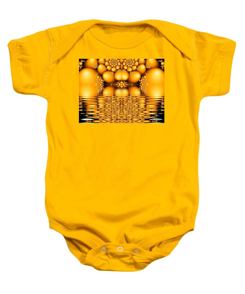 Tangerine Orange Water Sacred Tears Baby Onesie featuring the digital art Tangerine Tears by Veronica Jackson