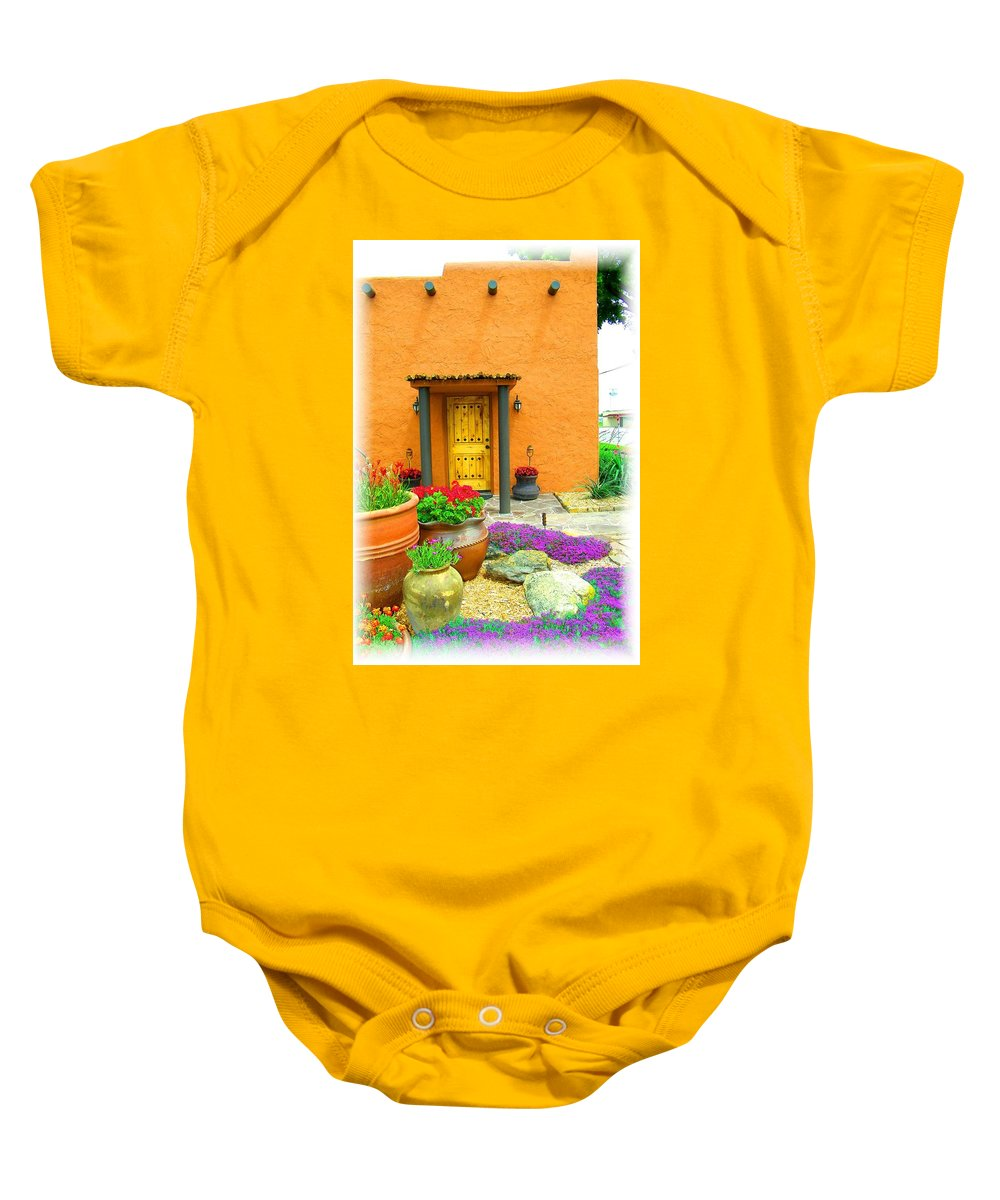 Adobe Baby Onesie featuring the photograph Texas Fiesta-style by Gale Cochran-Smith