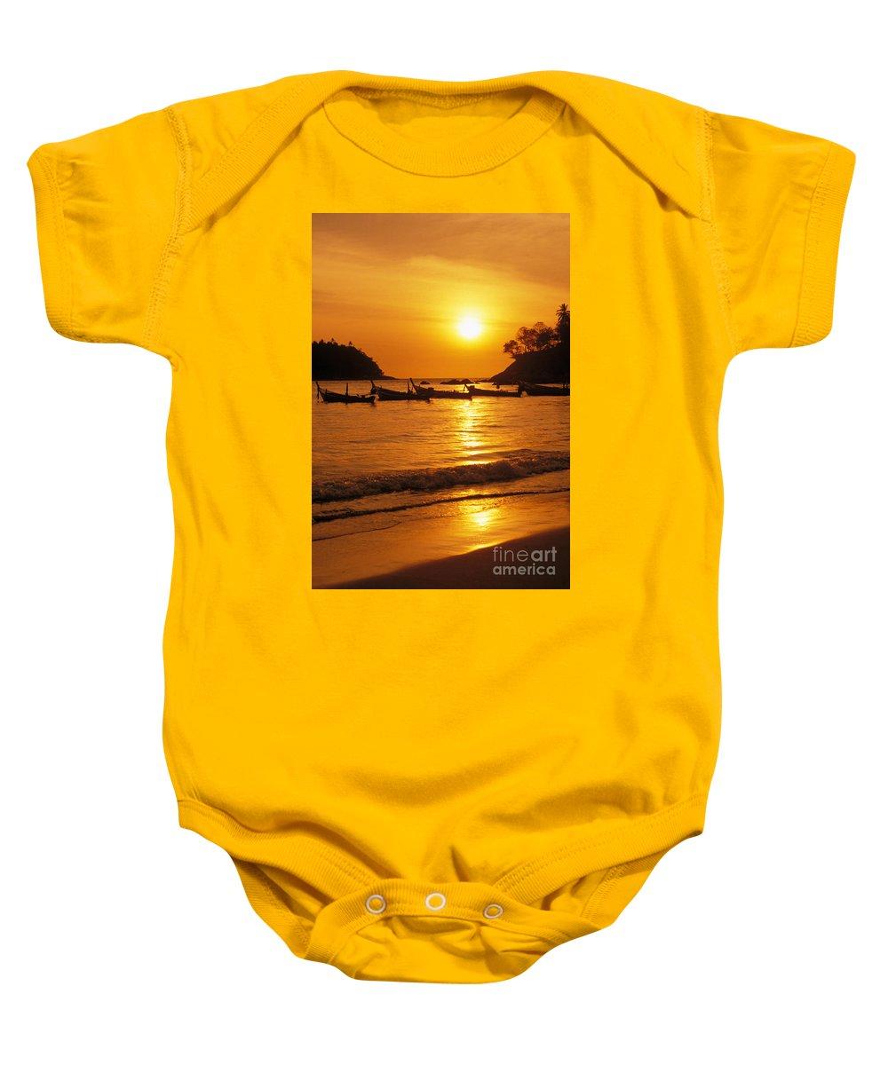 Beach Baby Onesie featuring the photograph Thailand, Phuket by Rita Ariyoshi - Printscapes