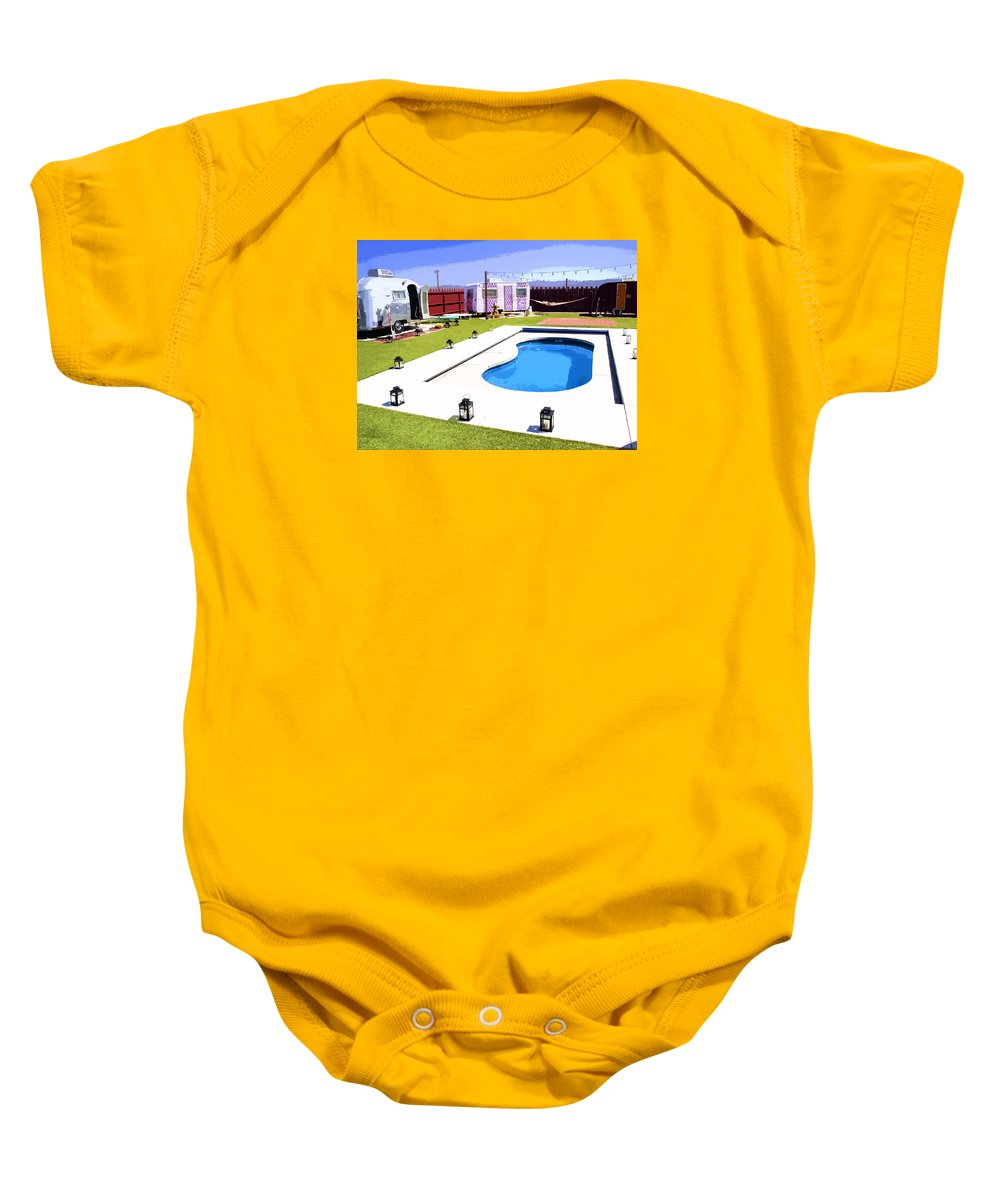 Pop Art Baby Onesie featuring the photograph The American Dreamstate 2 by Dominic Piperata