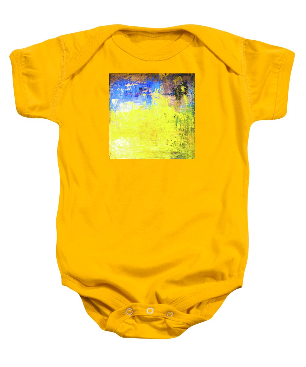 The Catcher In The Rye Baby Onesie featuring the painting The Catcher In The Rye by Eckhard Besuden
