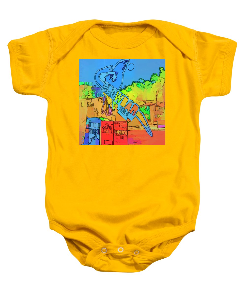 Tampa Baby Onesie featuring the photograph The Crowbar Ybor City by Marvin Spates
