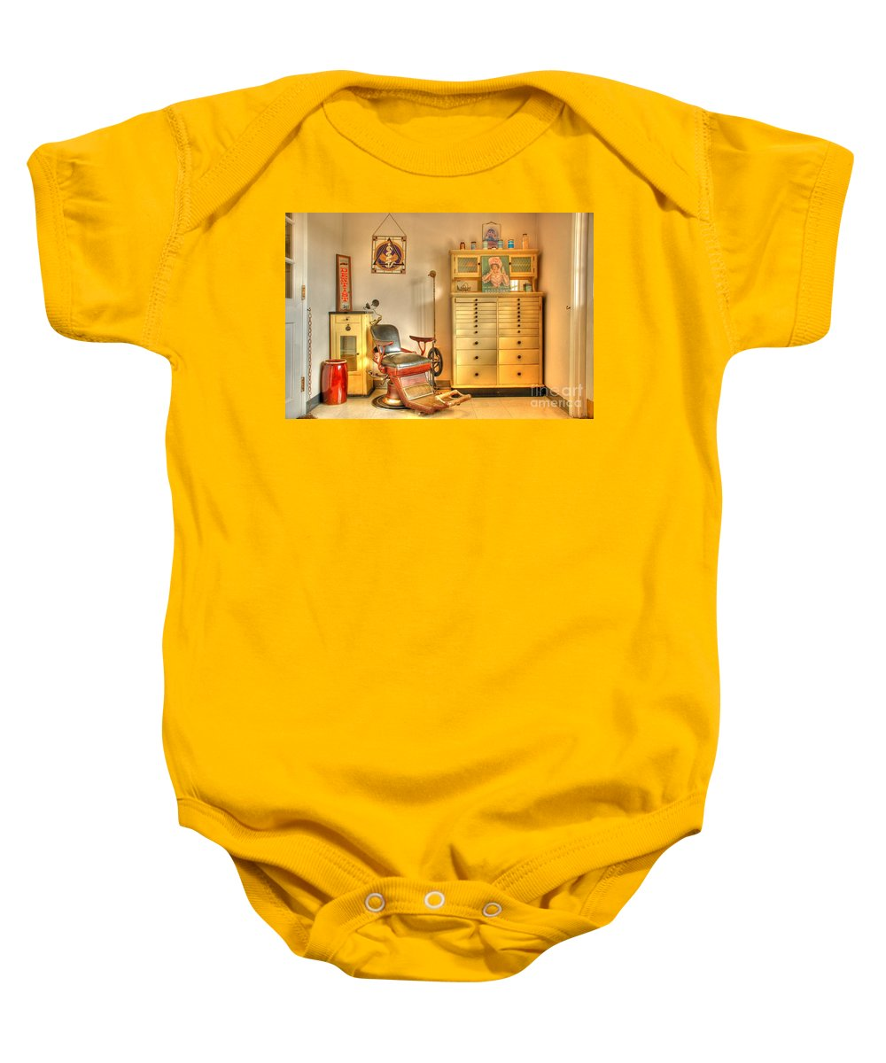 Dentist Office Baby Onesie featuring the photograph The Dentist Office by Tony Bazidlo