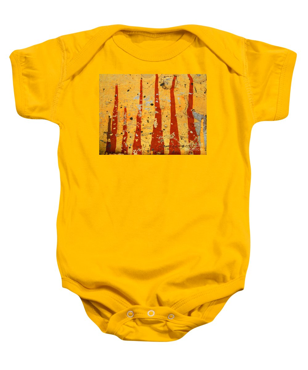 Paint Baby Onesie featuring the photograph The Fire by Tara Turner