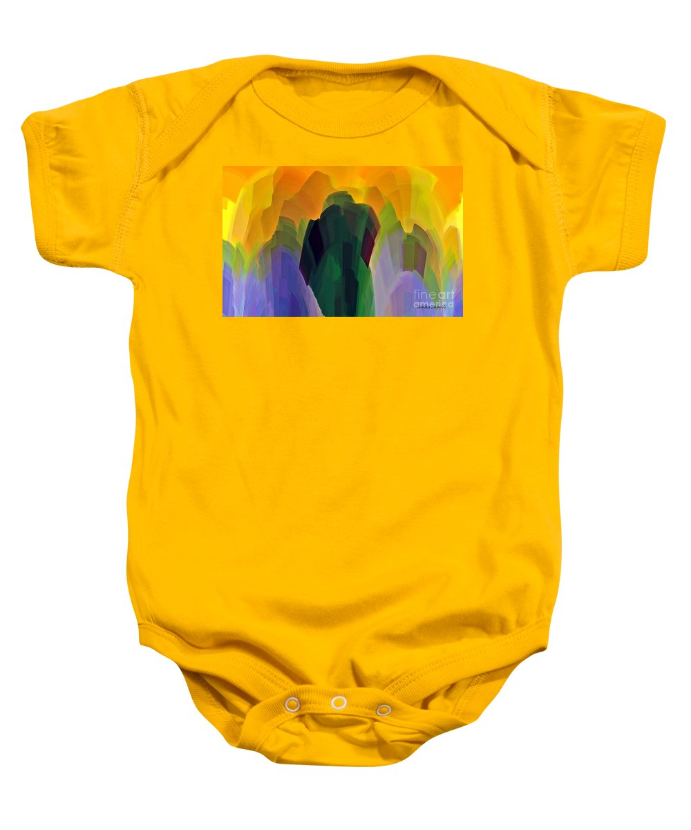 Garden Baby Onesie featuring the digital art The Gardener by Shelley Jones