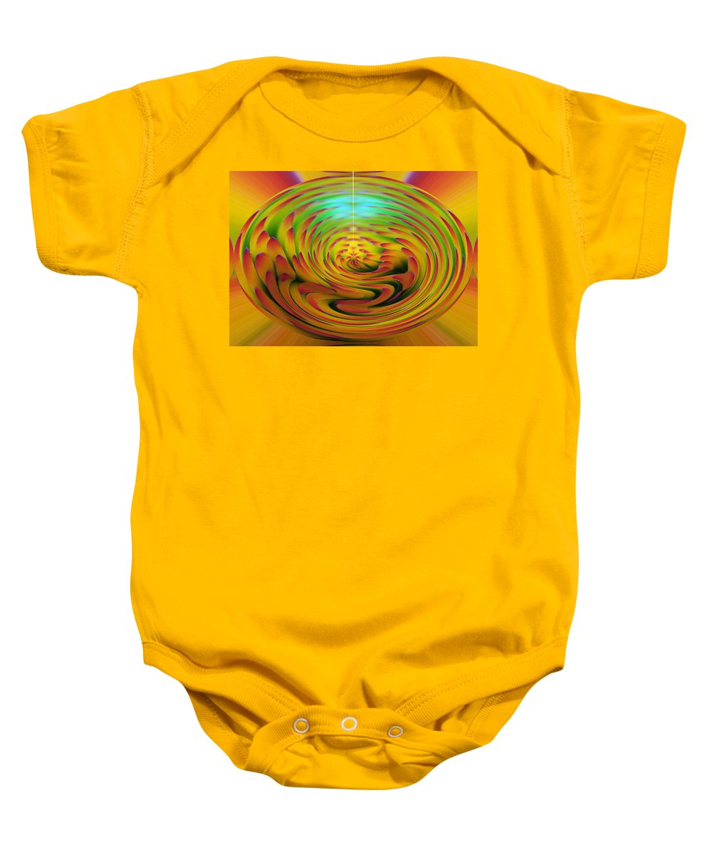 Abstracts Baby Onesie featuring the digital art The Globe by Ernie Echols