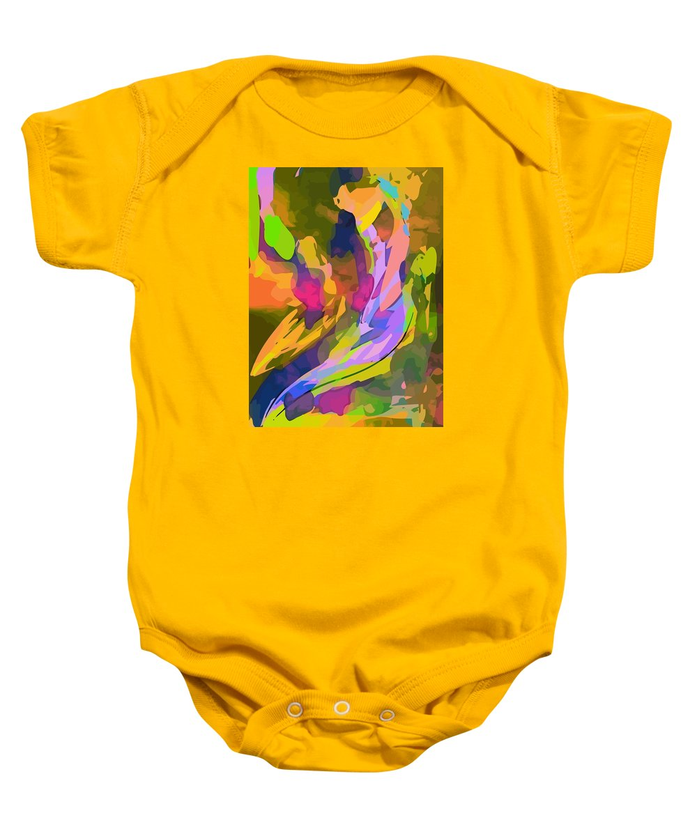 Color Baby Onesie featuring the painting The Hues by Alex Djokovich
