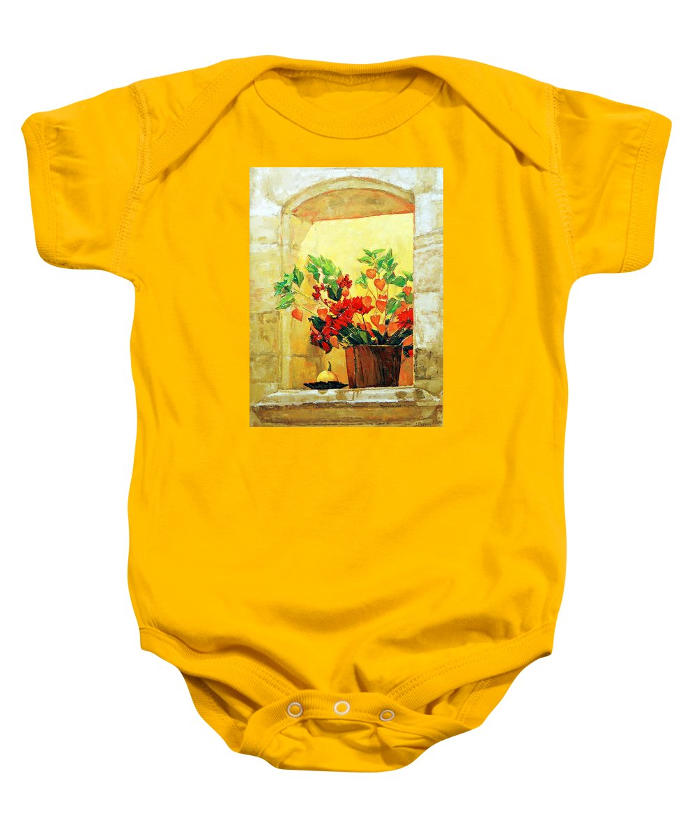 Still Life Baby Onesie featuring the painting The Light by Iliyan Bozhanov