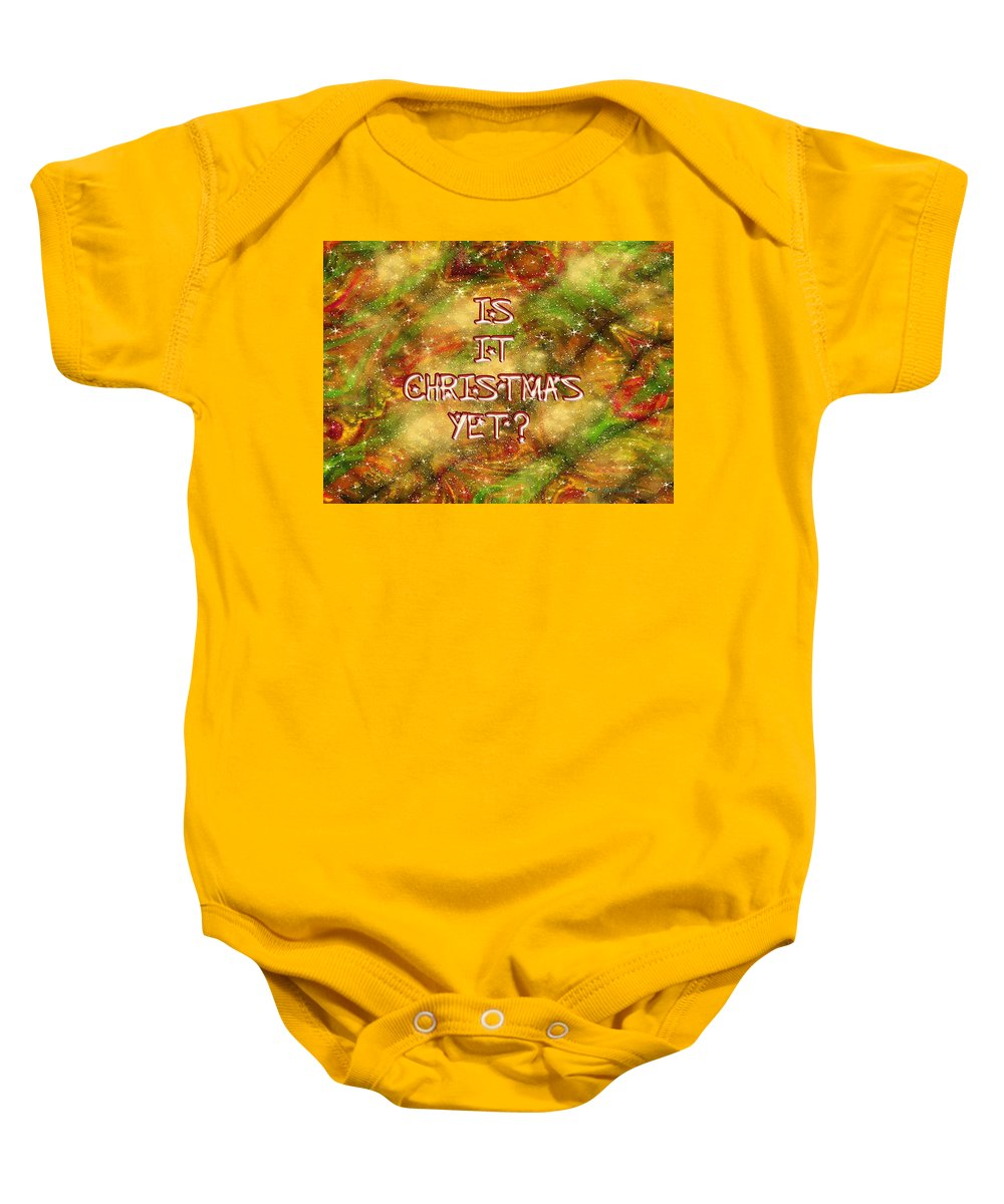 Card Baby Onesie featuring the painting The Madness Of Christmas Card by RC DeWinter