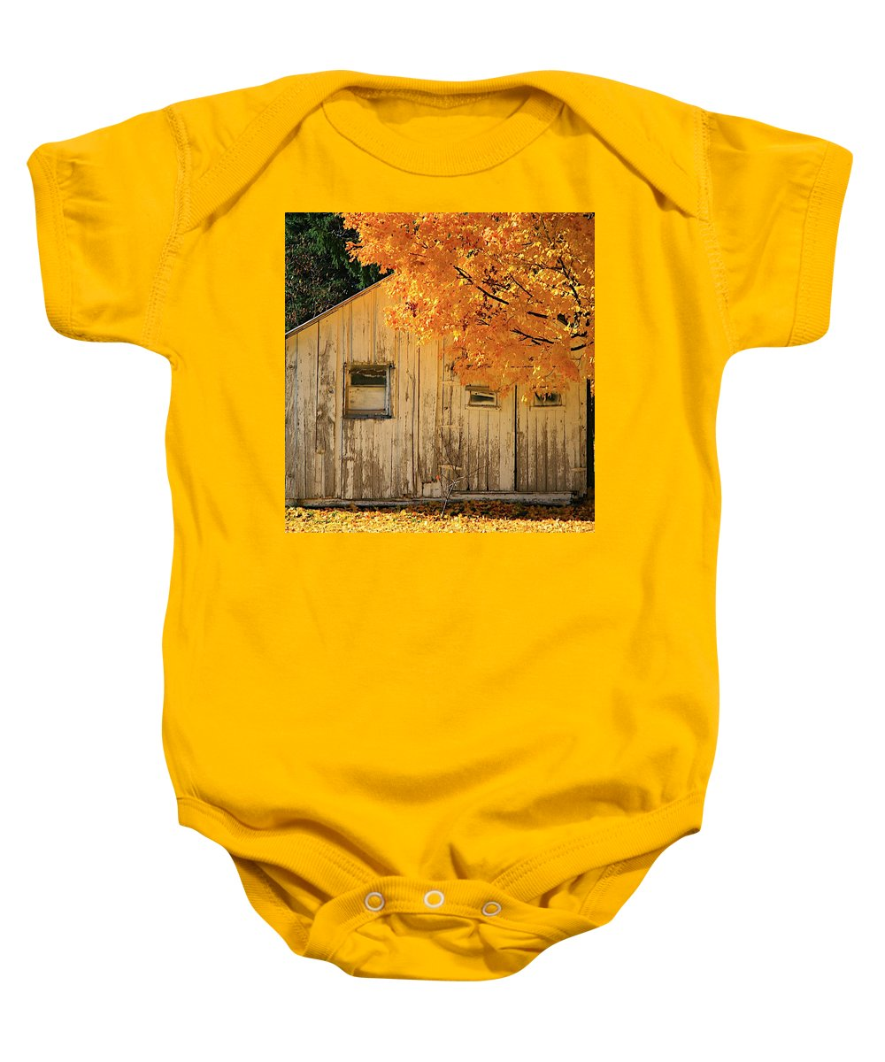 Related Tags: Fall Artwork Baby Onesie featuring the photograph The Old Shack by Robert Pearson