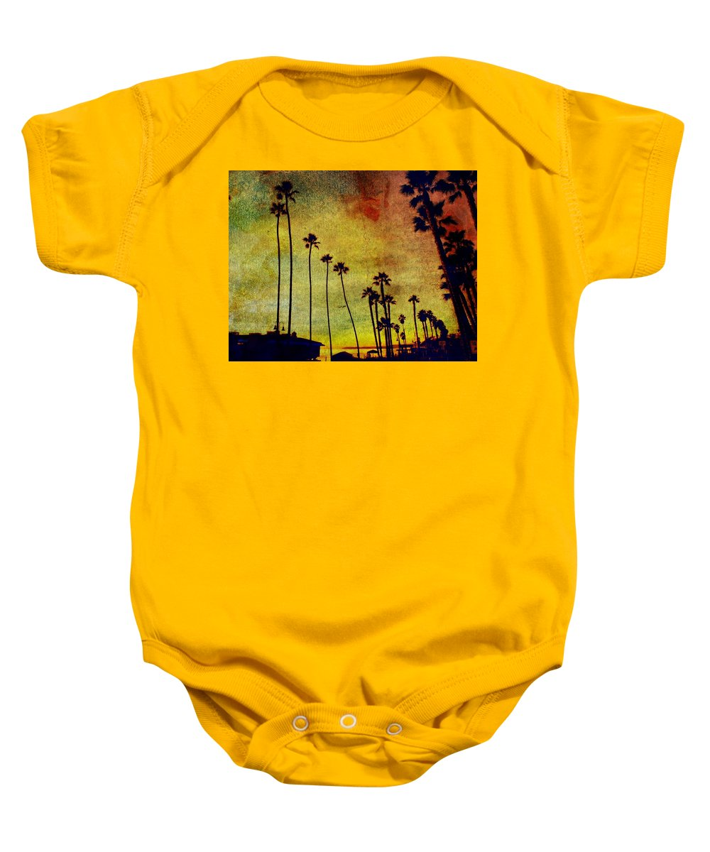 Beaches Baby Onesie featuring the photograph The Palms by Kevin Moore