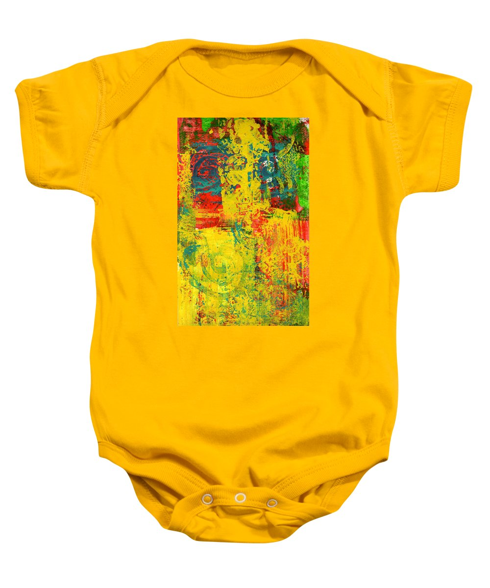 Abstract Baby Onesie featuring the painting The Power Within by Wayne Potrafka
