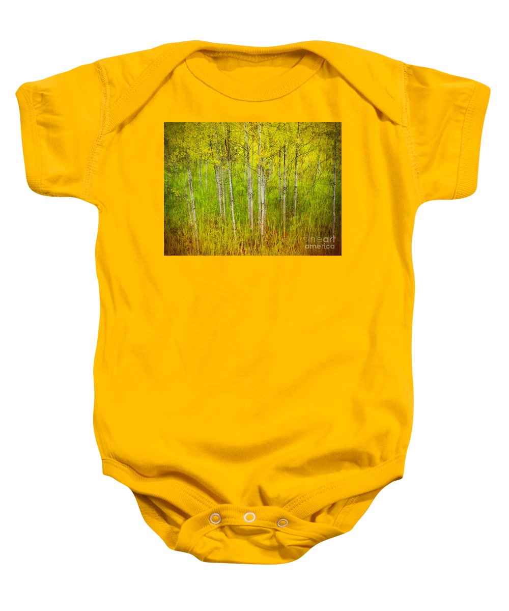 Forest Baby Onesie featuring the photograph The Small Forest by Tara Turner