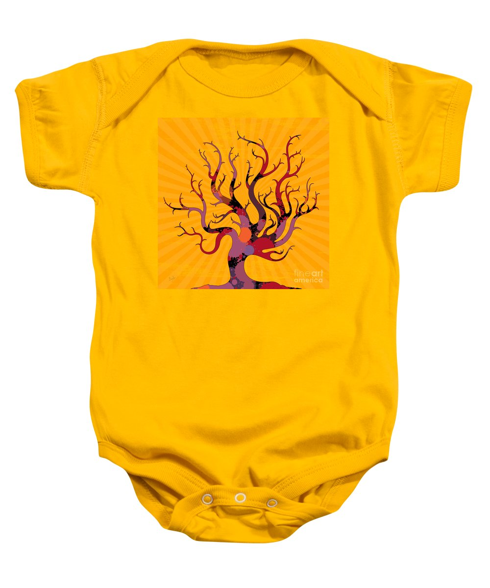 Tree Baby Onesie featuring the digital art The Spotted Tree by Peter Awax