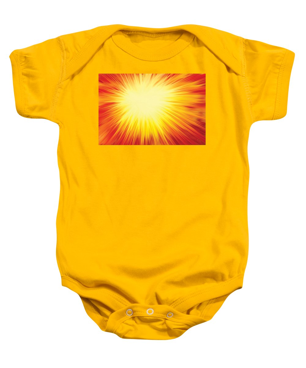 Solar System Baby Onesie featuring the digital art The Sun by Rabi Khan