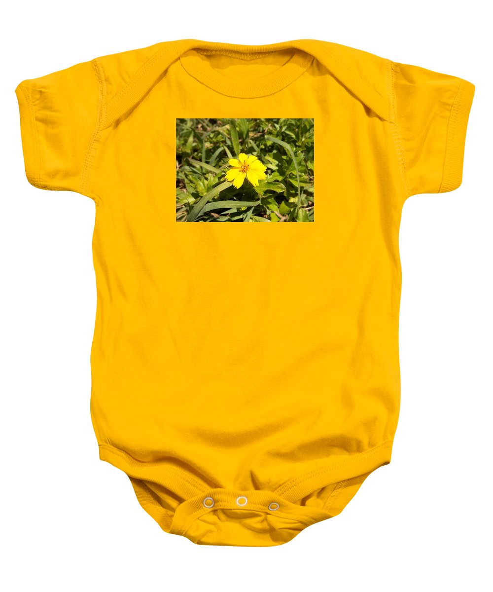 Yellow Baby Onesie featuring the photograph The Yellow Encamped by Aaron Crooks
