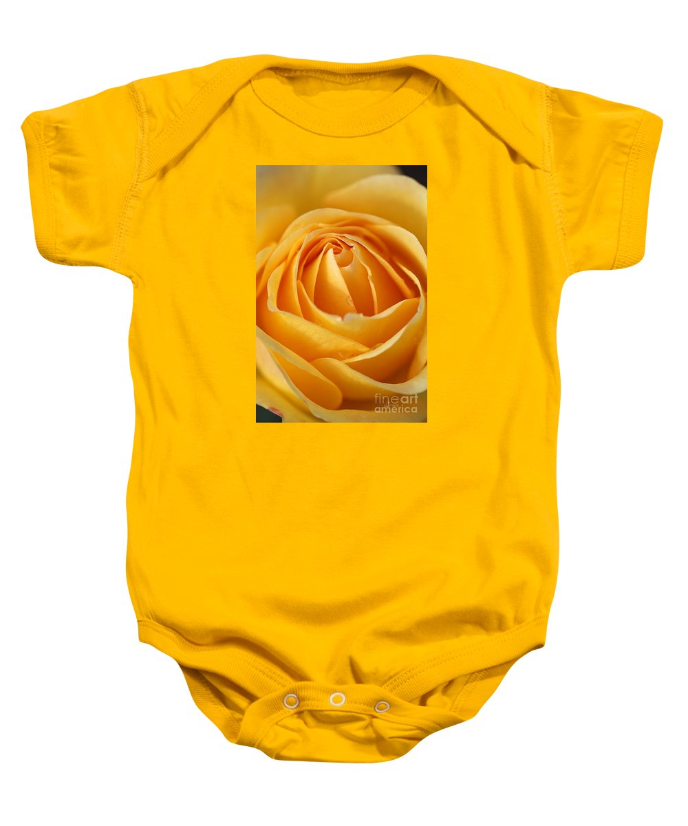 Joy Watson Baby Onesie featuring the photograph The Yellow Rose by Joy Watson