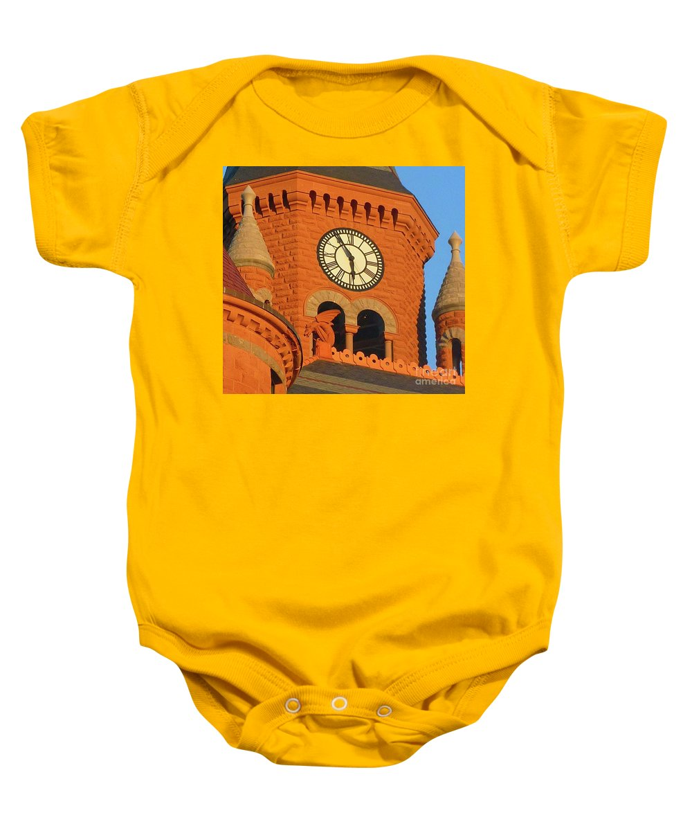 Time Baby Onesie featuring the photograph Time by Angela Wright