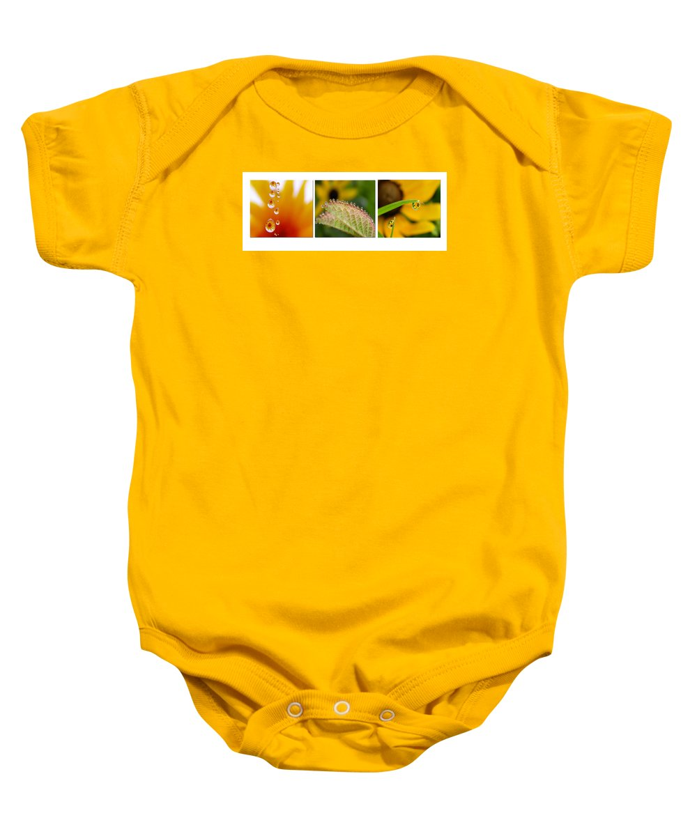 Dew Baby Onesie featuring the photograph Tiny Miracles by Linda Murphy