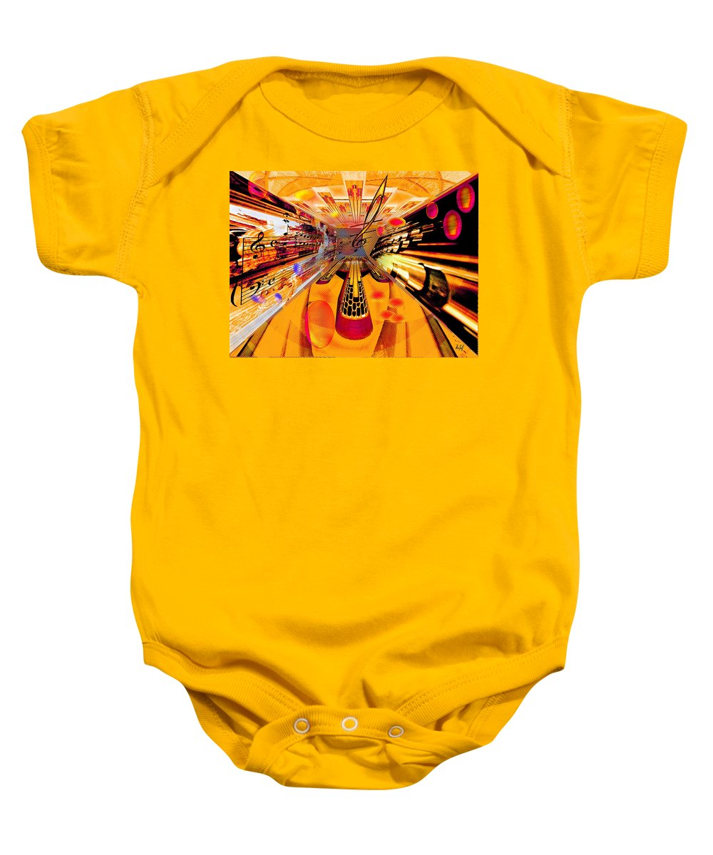 Toccata Baby Onesie featuring the digital art Toccata- Masters View by Helmut Rottler
