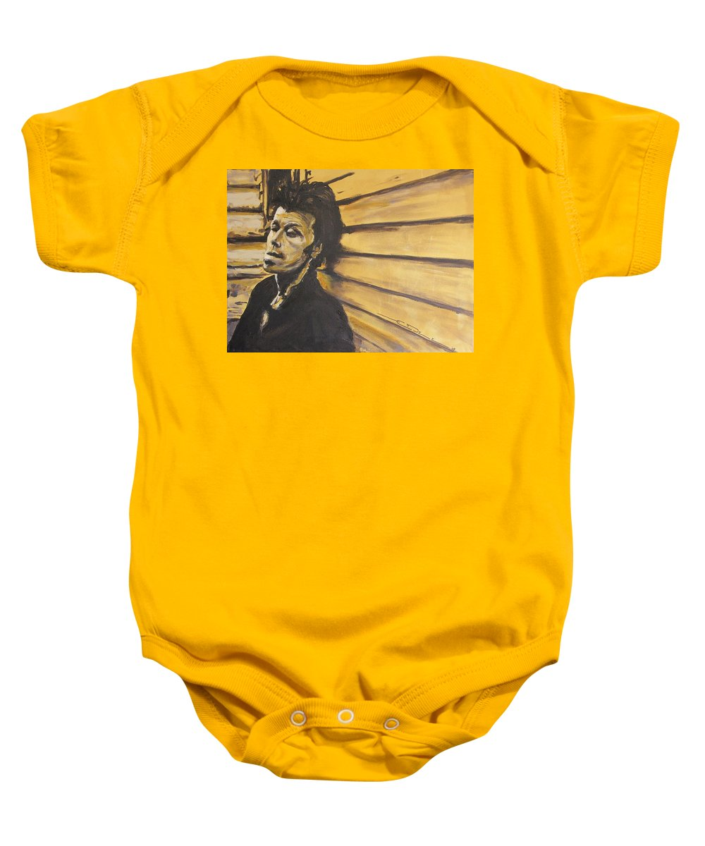 Tom Waits Baby Onesie featuring the painting Tom Waits by Eric Dee
