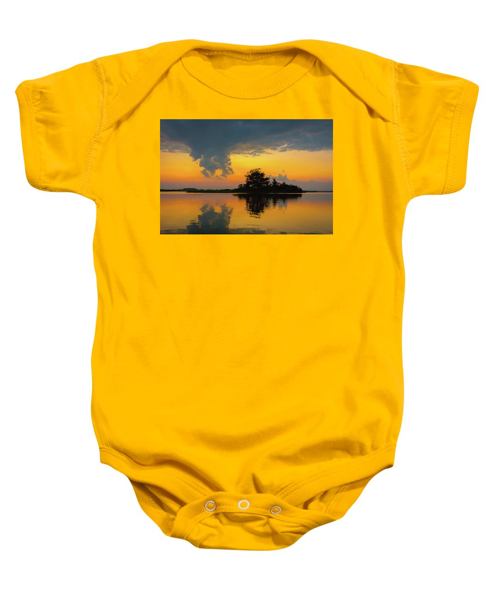 Sunset Baby Onesie featuring the photograph Touch The Sky by Jodi Lyn Jones