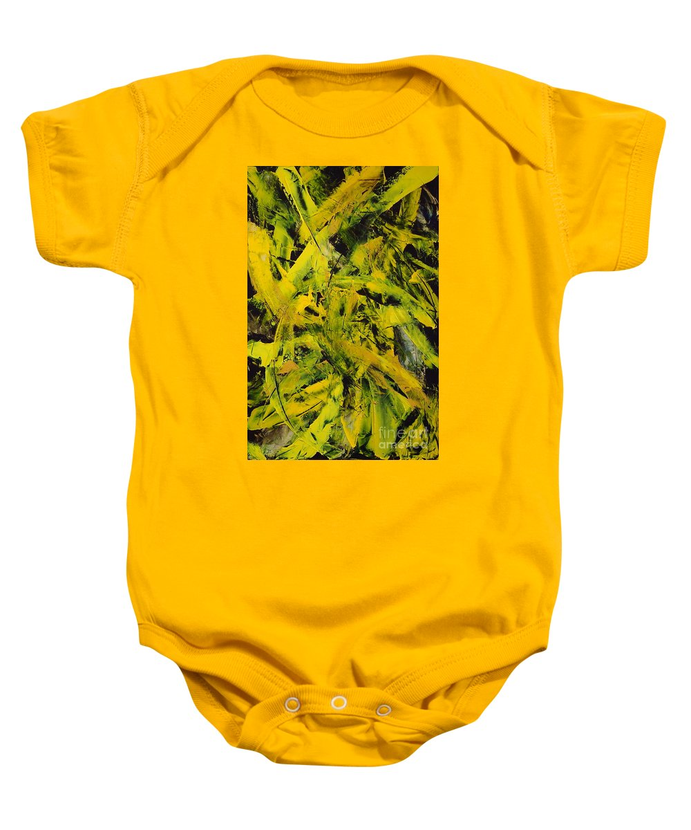 Abstract Baby Onesie featuring the painting Transitions Vi by Dean Triolo