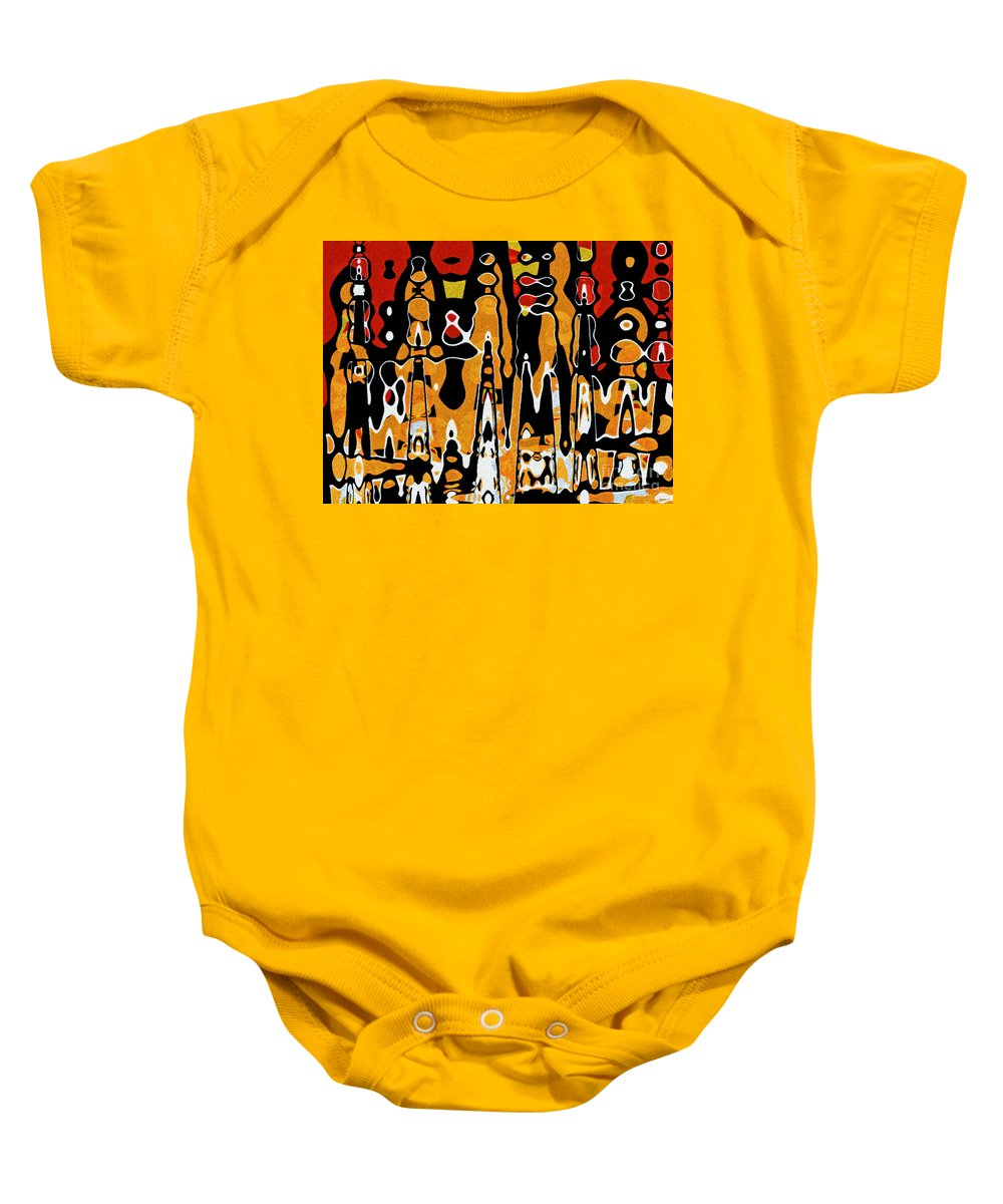 Tribu Baby Onesie featuring the digital art Tribal by Fauvy