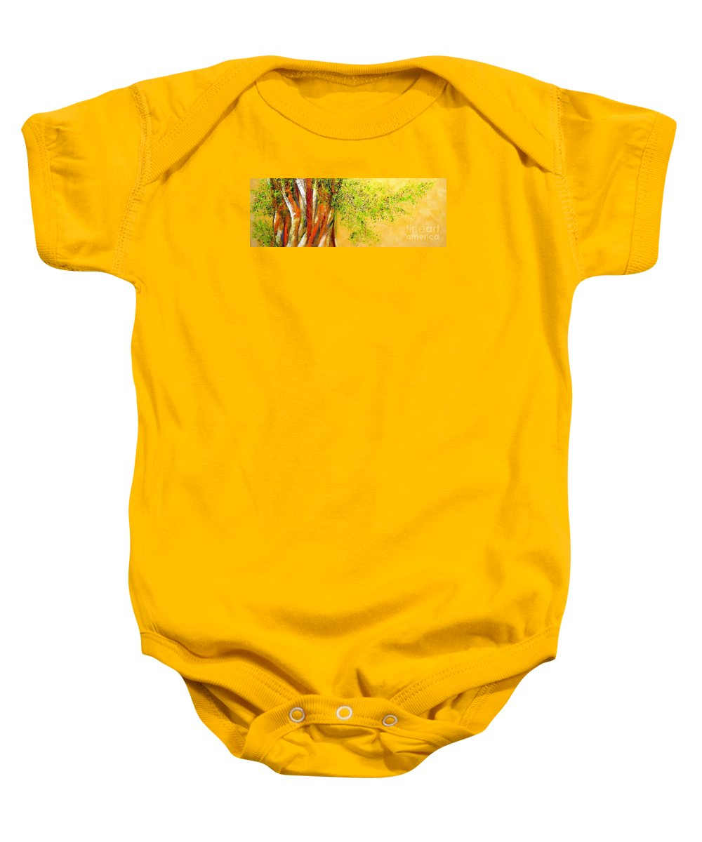 Trees Baby Onesie featuring the painting Troncos by Fernanda Cruz