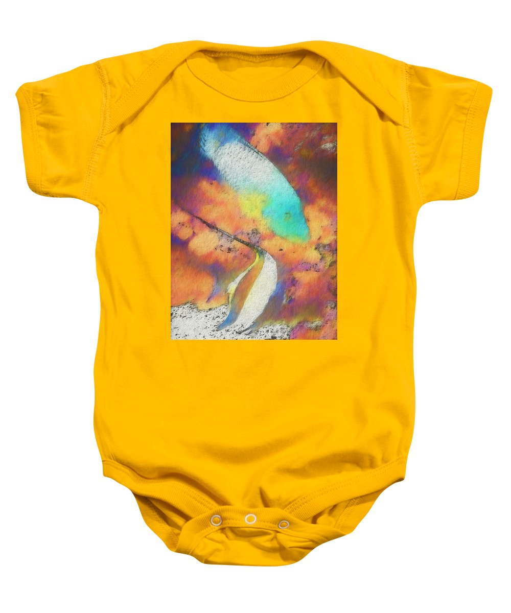Aquarium Baby Onesie featuring the painting Tropical Fish by Marty Malliton