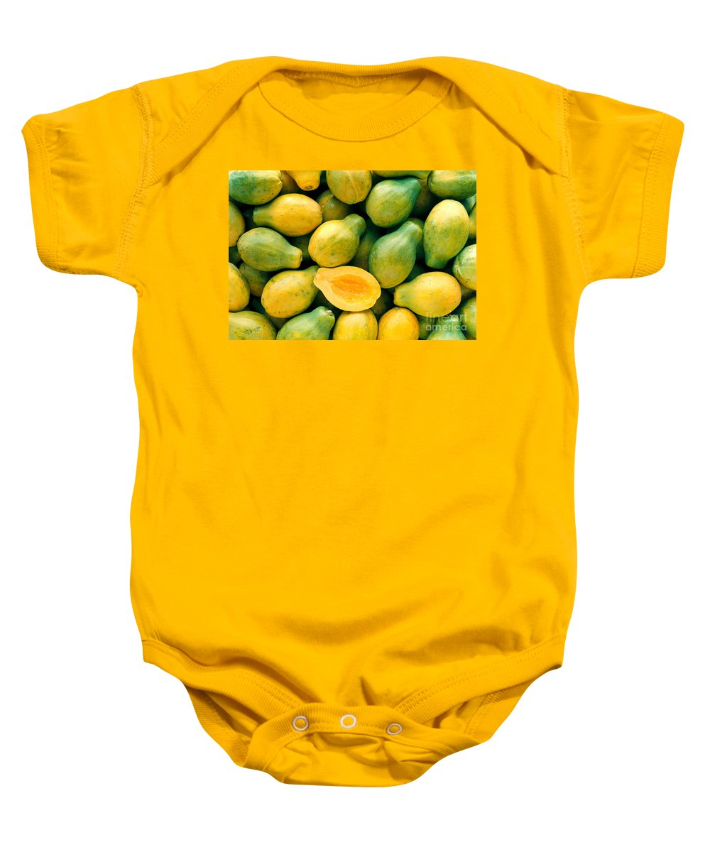 Arrange Baby Onesie featuring the photograph Tropical Papayas by Greg Vaughn - Printscapes