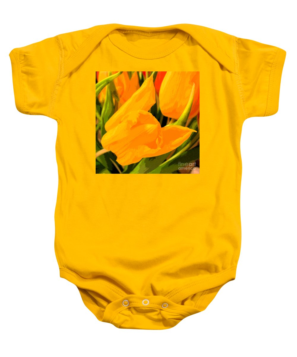 Tulip Baby Onesie featuring the photograph Tulips by Amanda Barcon