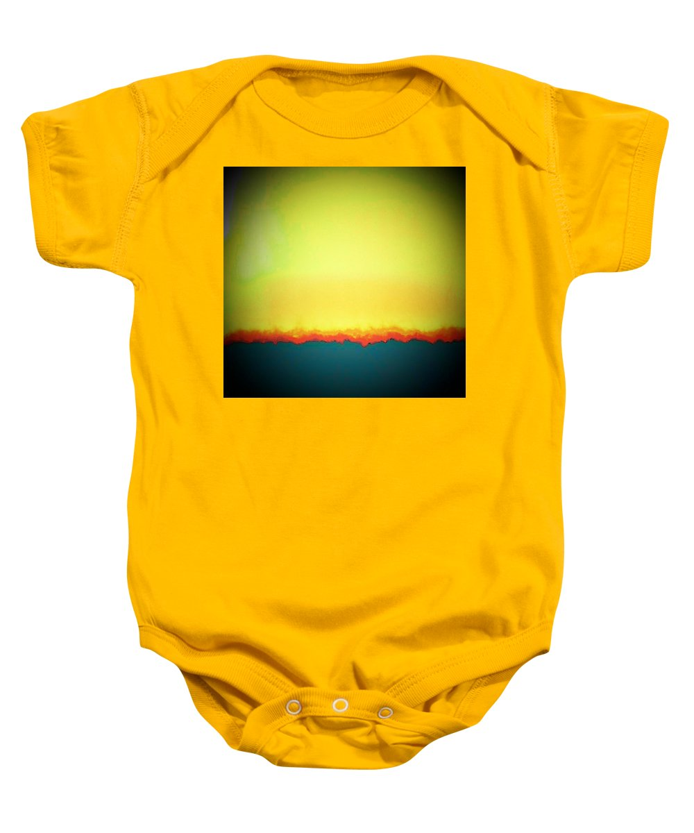 Abstract Baby Onesie featuring the photograph Turning A Negative Into A Positive by Lenore Senior