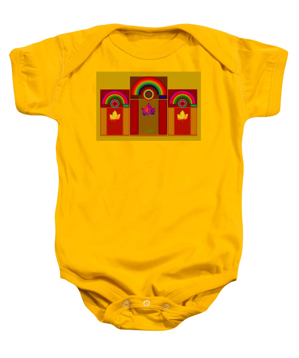 Classical Baby Onesie featuring the digital art Tuscan Harvest by Charles Stuart