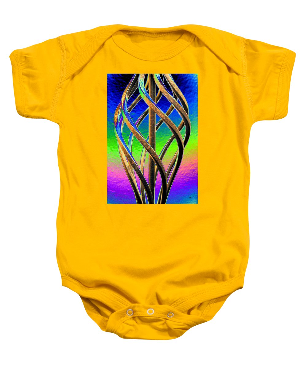 Abstract Baby Onesie featuring the digital art Twist And Shout 2 by Will Borden