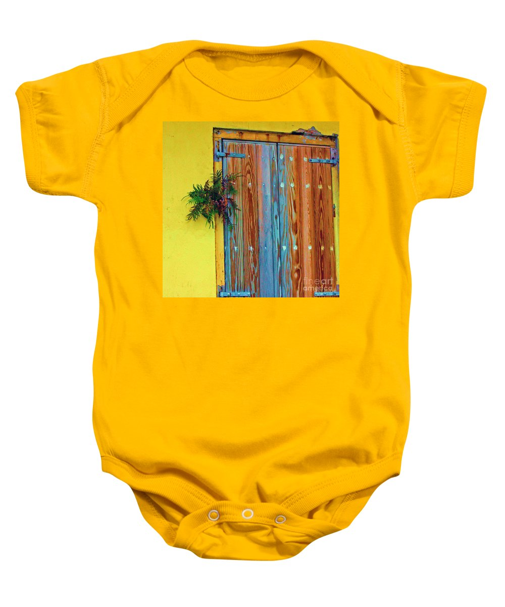 Door Baby Onesie featuring the photograph Twisted Root by Debbi Granruth