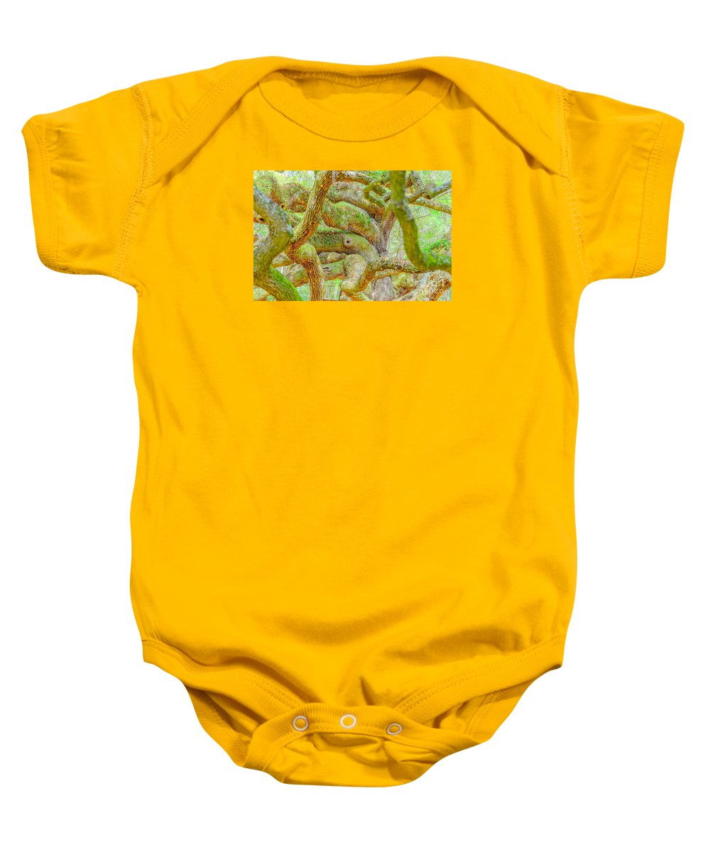 South Carolina Baby Onesie featuring the photograph Twists In Time by Elvis Vaughn