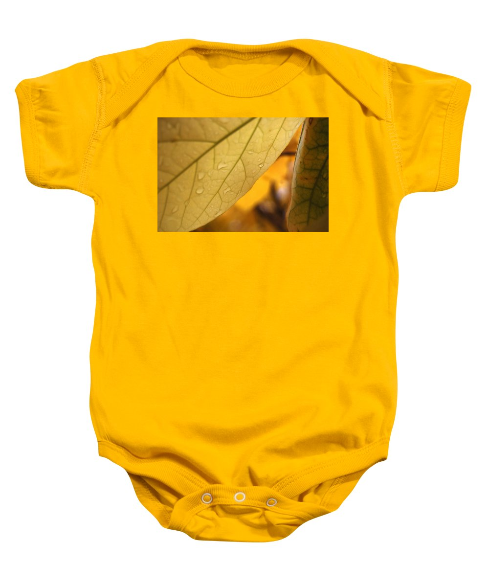 Yellow Baby Onesie featuring the photograph Vampire Veins by Trish Hale