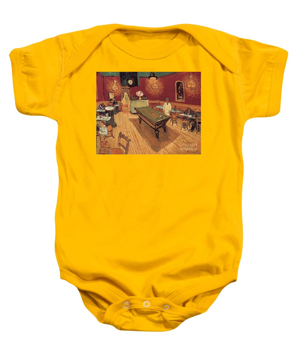 1888 Baby Onesie featuring the painting Van Gogh Night Cafe 1888 by Granger